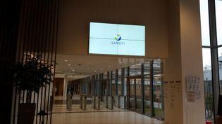 Le siège social de Sanofi à Gentilly dans le Val-de-Marne. (LAETITIA SAAVEDRA / RADIOFRANCE)
