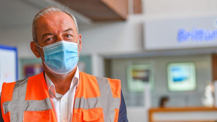 Christophe Mathieu, directeur général de Britanny Ferries. (NICOLAS CREACH / MAXPPP)