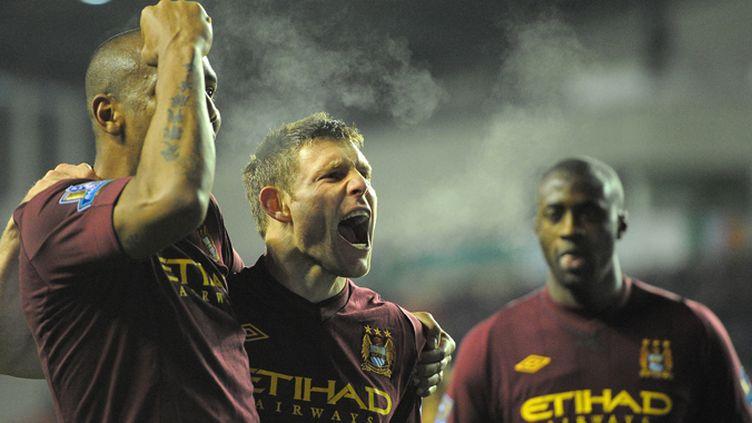 Maicon, James Milner et Yaya Touré (Manchester City)