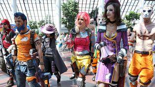 Défilé de participants en costumes comics et manga à Villepinte, lors de la Japan Expo 2013 (6 juillet 2013)  (David Silpa / UPI / MaxPPP)