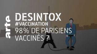 Covid : non, il n'y a pas 98% de parisiens vaccinés (ARTE/2P2L)
