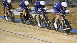 Valentin Tabellion, en troisième position, représentera l'équipe de France en finale du kilomètre vendredi. (FRANCOIS LO PRESTI / AFP)