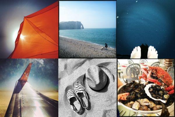 Echantillon de photos typiques de vacances partagées sur Instagram. (FRANCETV INFO)