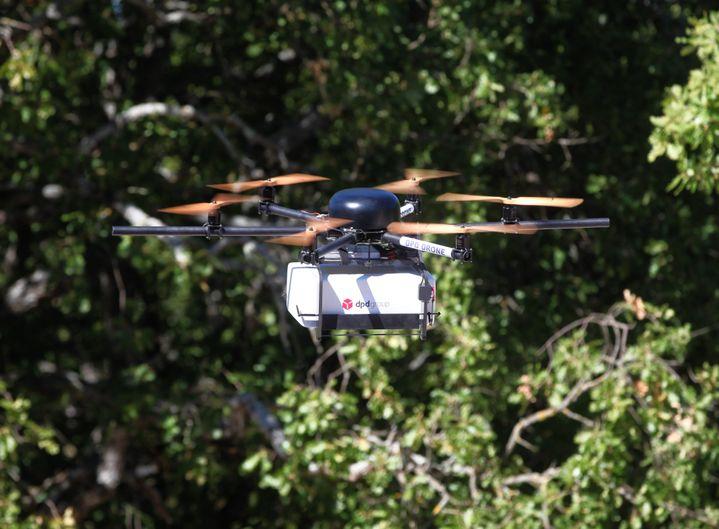 Exemple de drone utilisé dans le Var pour transporter des colis.  (FRANK MULLER / MAXPPP)