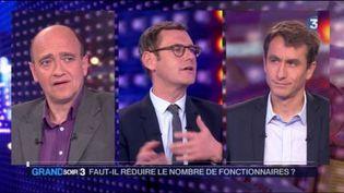 Christophe Ramaux et Étienne Lefebvre débattent sur la fonction publique. (FRANCE 3)