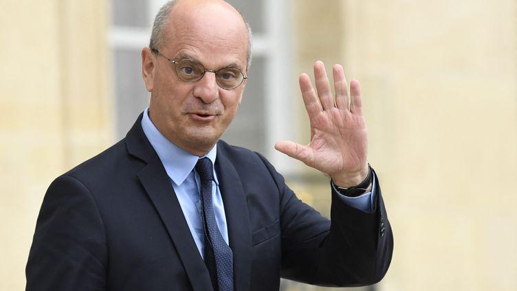 Le ministre de l'Education nationale, Jean-Michel Blanquer, le 28 juillet 2021 à Paris. (BERTRAND GUAY / AFP)