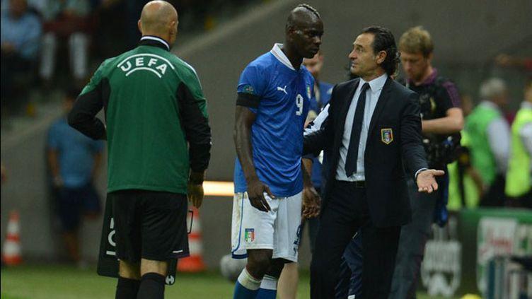 Cesare Prandelli, ici avec Mario Balotelli