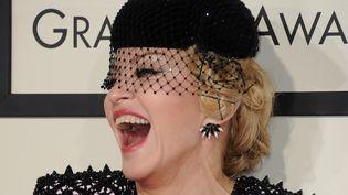 Madonna lors des Grammy Awards, le 8 février 2015 à Los Angeles (Etats-Unis). (VALERIE MACON / AFP)