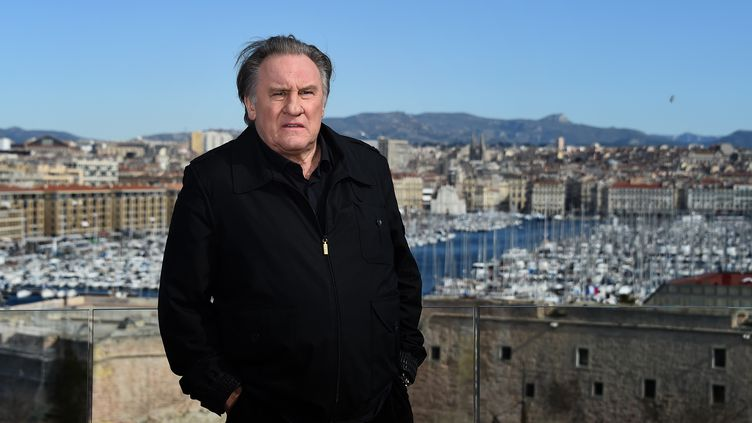 L'acteur français Gérard Depardieu, à Marseille (Bouches-du-Rhône), le 18 février 2018. (ANNE-CHRISTINE POUJOULAT / AFP)