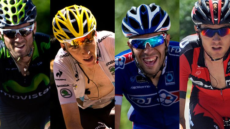 Valverde, Bardet, Pinot, et Van Garderen visent le podium