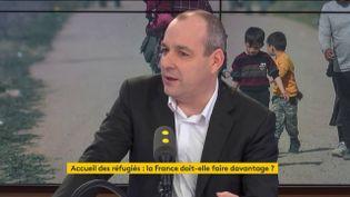 """Laurent Berger, secrétaire général à la CFDT, était l'invité du """"8h30 franceinfo"""" le mercredi 11 mars. (RADIO FRANCE / FRANCEINFO)"""