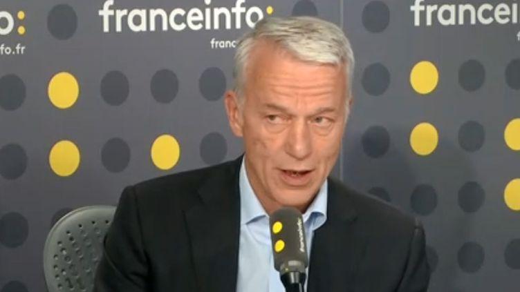 Le président délégué du Medef, Patrick Martin, invité sur franceinfo, 26 avril 2019. (FRANCEINFO)