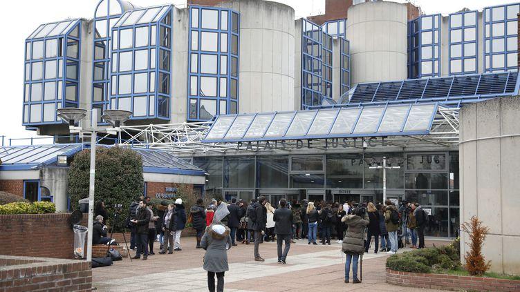 Le palais de justice de Bobigny (Seine-Saint-Denis) où a lieu la confrontation entre Théo et trois policiers. (MAXPPP)