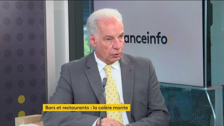 Alain Griset, ministre délégué aux PME, était l'invité éco du lundi 28 septembre 2020. (FRANCEINFO / RADIOFRANCE)