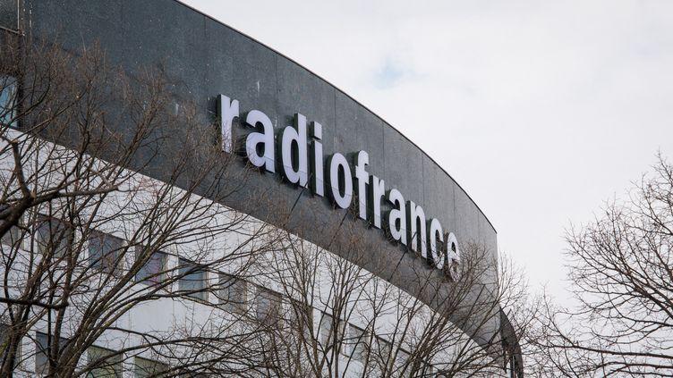 La façade de la Maison de la radio, à Paris. (RICCARDO MILANI / HANS LUCAS)