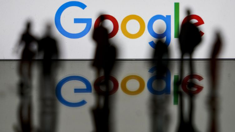 Le logo de Google, le 14 février 2020, à Bruxelles. (KENZO TRIBOUILLARD / AFP)