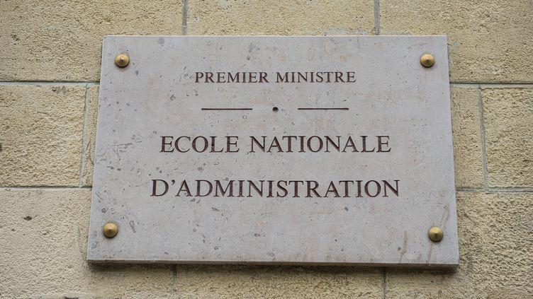 Lasuppression de l'ENA a étéannoncée par le président Macron, le 8 avril 2021. (JOAO LUIZ BULCAO / HANS LUCAS / AFP)