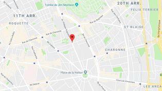 Le corps de l'octogénaire a été retrouvé vendredi 23 mars 2018 au soir dans son appartement de l'avenue Philippe-Auguste, dans le 11e arrondissement de Paris. (GOOGLE MAPS)