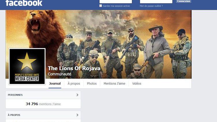 """Capture d'écran de la page Facebook des """"Lions du Rojava"""", des combattants qui luttent contre l'organisation Etat islamique au Kurdistan syrien. (THE LIONS OF ROJAVA / FACEBOOK)"""