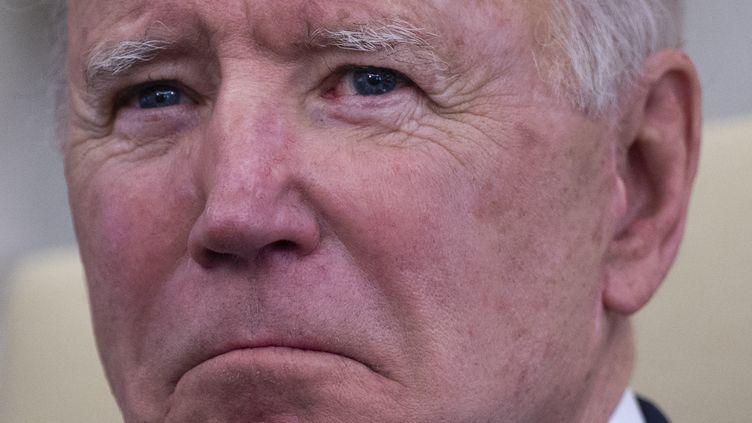 Joe Biden, président des États-Unis, le 17 mars 2021. (JIM WATSON / AFP)