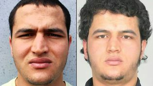 Montage de deux photographies du Tunisien Anis Amri, suspecté de l'attentat de Berlin et abattu en Italie le 23 décembre 2016. (BKA / AFP)