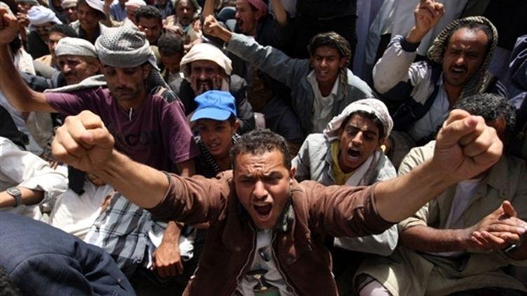 Des manifestants à Sanaa (14 mars 2011) (AFP / Ahmad Gharabli)
