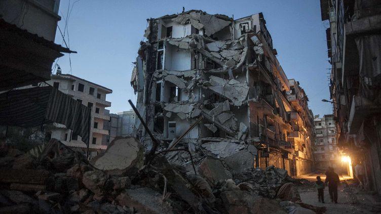 Un quartier d'Alep (Syrie) violemment bombardé le 2 décembre 2012. (NARCISO CONTRERAS / AP / SIPA)