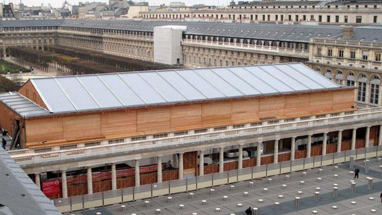 Le Théâtre Ephémère tout en bois de la Comédie-Française.  (PHOTOPQR/LE PARISIEN)