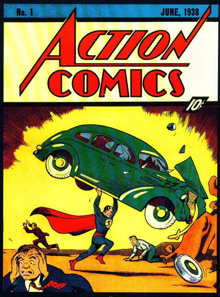 """Le numéro 1 d'""""Action Comics"""" où apparaissait en 1938 la première aventure de """"Superman""""  (DR)"""