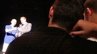 Maxime et Kevin durant le spectacle de Gérard Majax à Avignon  (PYG/Culturebox)