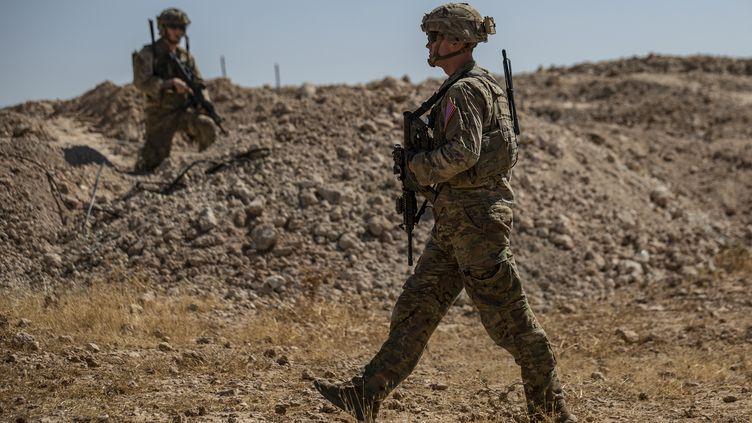 Des soldats américains àTal Abyad (Syrie), le 8 septembre 2019. (DELIL SOULEIMAN / AFP)