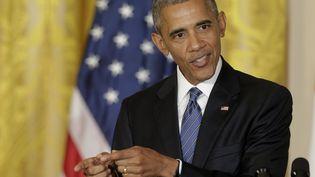 Le président américain Barack Obama lors d'une conférence de presse à Washington (Etats-Unis), mardi 2 août 2016. (JOSHUA ROBERTS / REUTERS)