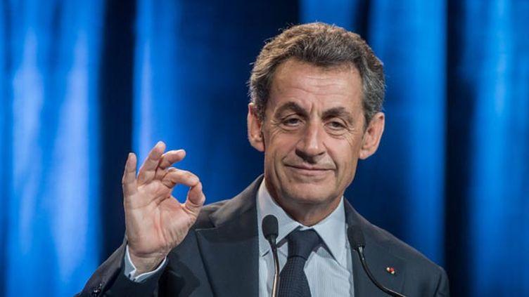(Nicolas Sarkozy conforté par les élections internes au parti Les Républicains © maxPPP)
