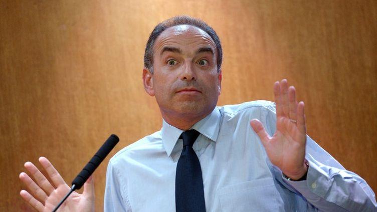 Jean-François Copé, candidat à la présidence de l'UM pendant un meeting avec les militants du parti, le 8 novembre 2012 à Paris. (BERTRAND GUAY / AFP)