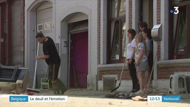 Belgique : après les inondations, le deuil et l'émotion
