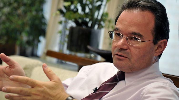 Georges Papaconstantinou, ancien ministre des Finances grec, à Athènes (Grèce), le 30 juin 2010. (LOUISA GOULIAMAKI / AFP)