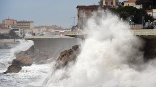 Des vents violents soufflent sur près de Marseille (Bouches-du-Rhône), le 11 janvier 2016. (ANNE-CHRISTINE POUJOULAT / AFP)
