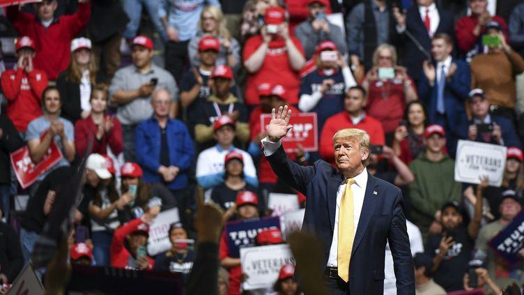 Le président des Etats-Unis en meeting à Colorado Springs (Colorado), jeudi 20 février 2020. (MICHAEL CIAGLO / GETTY IMAGES NORTH AMERICA / AFP)
