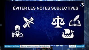 Des logiciels peuvent corriger les examens (France 3)