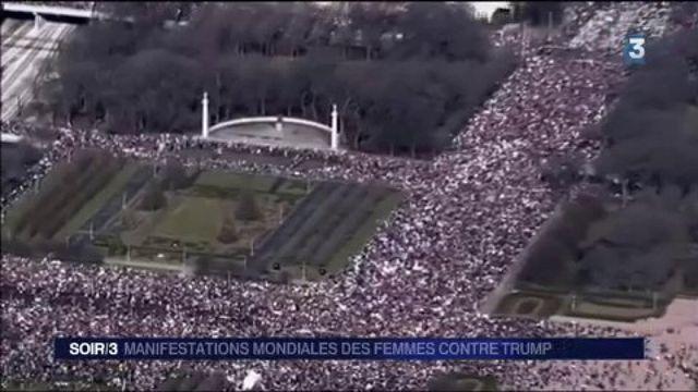 États-Unis : manifestations mondiales des femmes contre Trump