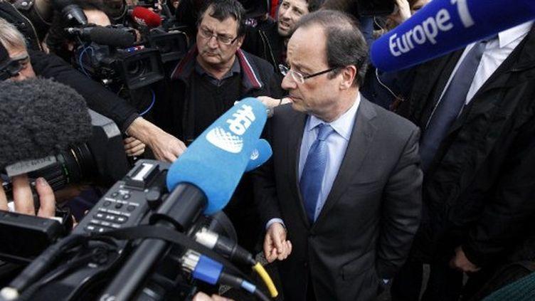 François Hollande dans l'Aisne (KENZO TRIBOUILLARD / AFP)