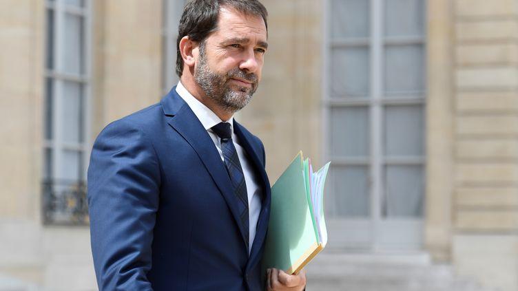 Christophe Castaner, le 28 juillet 2017, à l'Elysée. (BERTRAND GUAY / AFP)