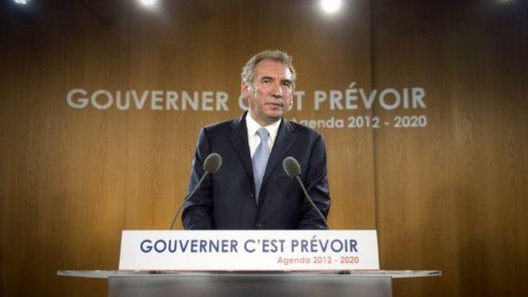 François Bayrou lors de la présentation de son agenda 2012-2020 (Lionel Bonaventure AFP)