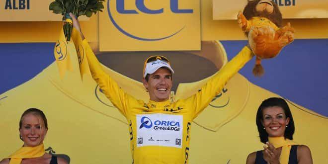 Daryl Impey tout sourire au soir de la 6e étape du Tour 2013