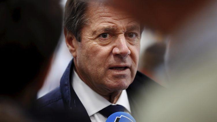 Le maire LR de Nice, Christian Estrosi, lors d'une conférence de presse dans sa ville, le 4 octobre 2020. (MAXPPP)