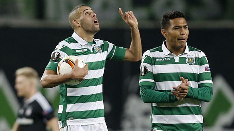 Les joueurs du Sporting Islam Slimani et Teofilo Gutierrez