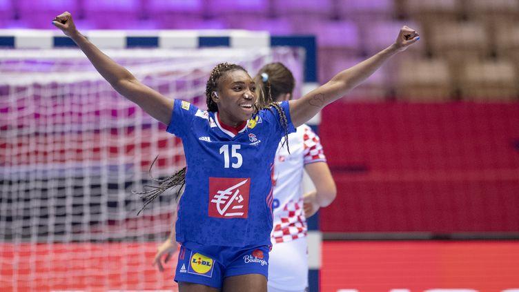 Kalidiatou Niakaté a réalisé une grande performance face à la Croatie (BO AMSTRUP / RITZAU SCANPIX)