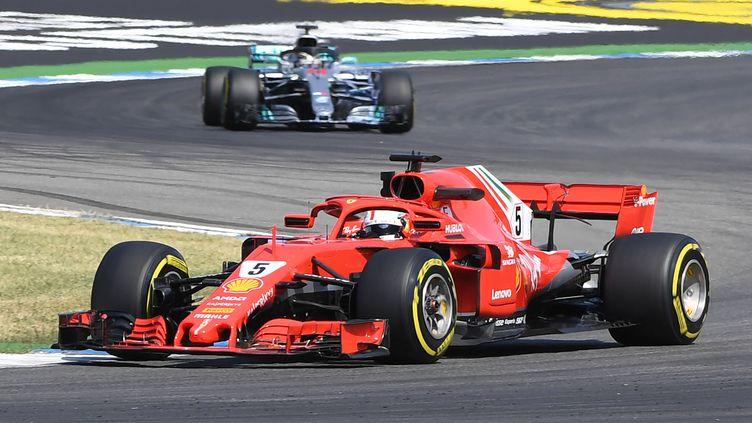 Sebastian Vettel (Ferrari). (ULI DECK / DPA)