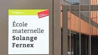 À Strasbourg (Bas-Rhin), une nouvelle école maternelle vient d'ouvrir ses portes à 100 m de l'axe routier le plus chargé de la ville, l'avenue du Rhin. (FRANCE 3)
