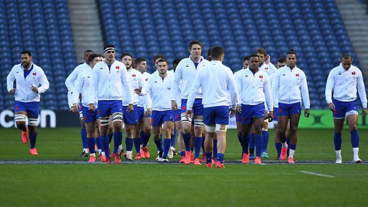 Les Bleus lors de la Coupe d'Automne des Nations, le 22 novembre 2020 à Murrayfield. (ANDY BUCHANAN / AFP)